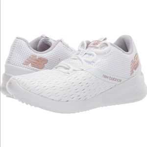 New Balance White District Running Sneakers